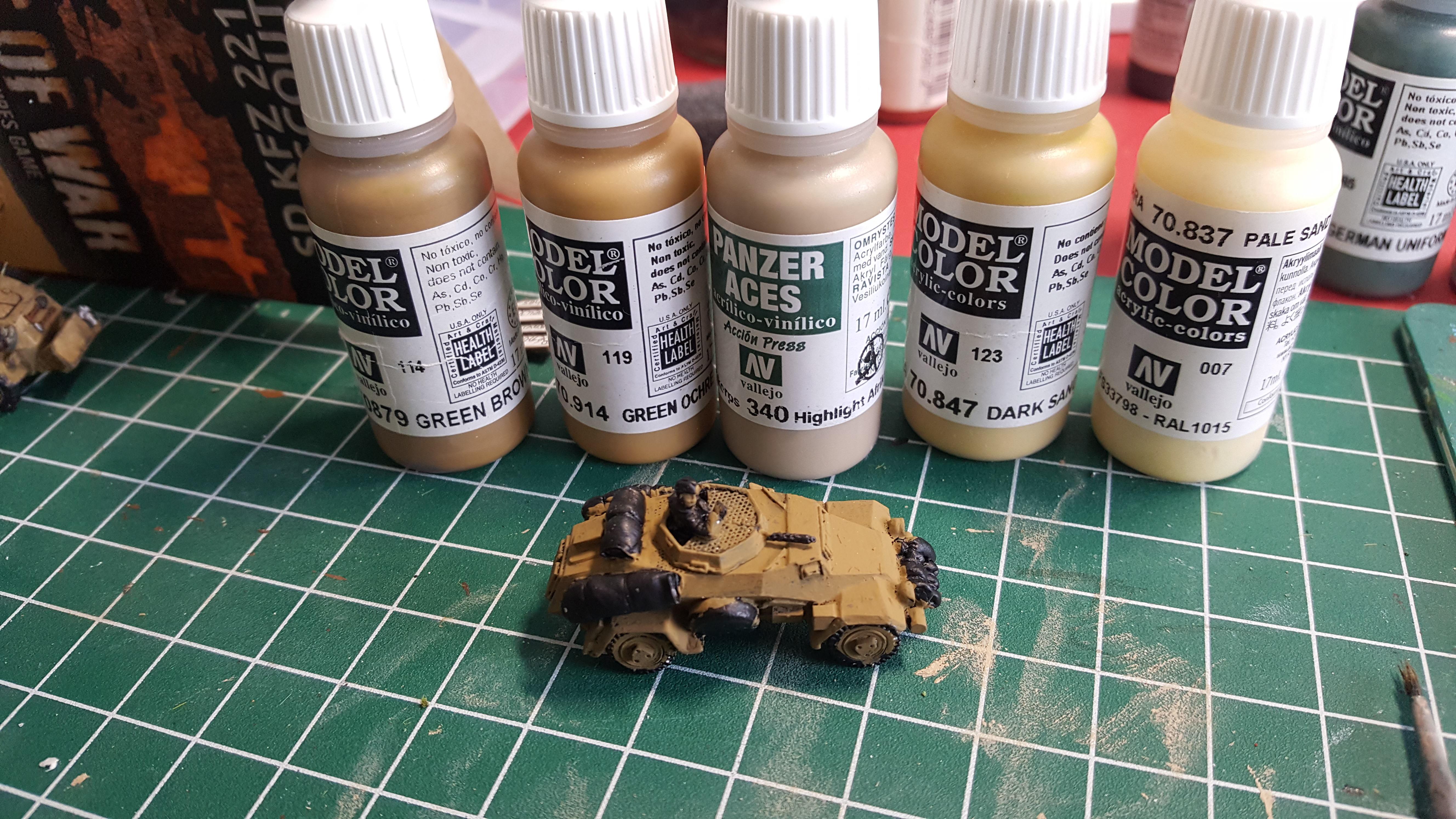 Afrika Korps Army Paint, Part II Vehicles – No Dice No Glory